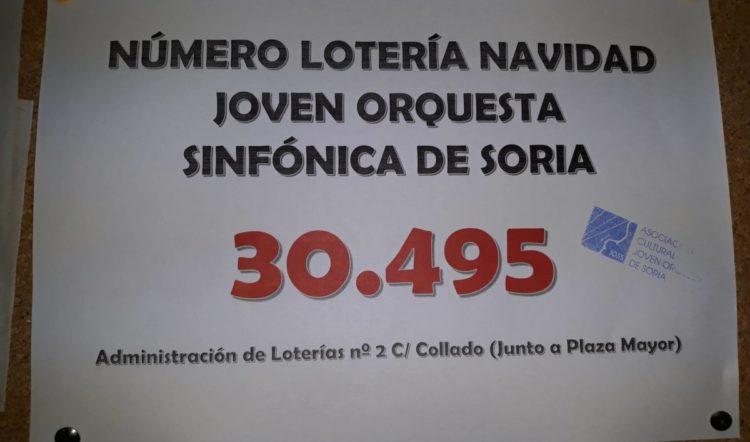 Lotería de navidad de la Asociación Joven Orquesta de Soria