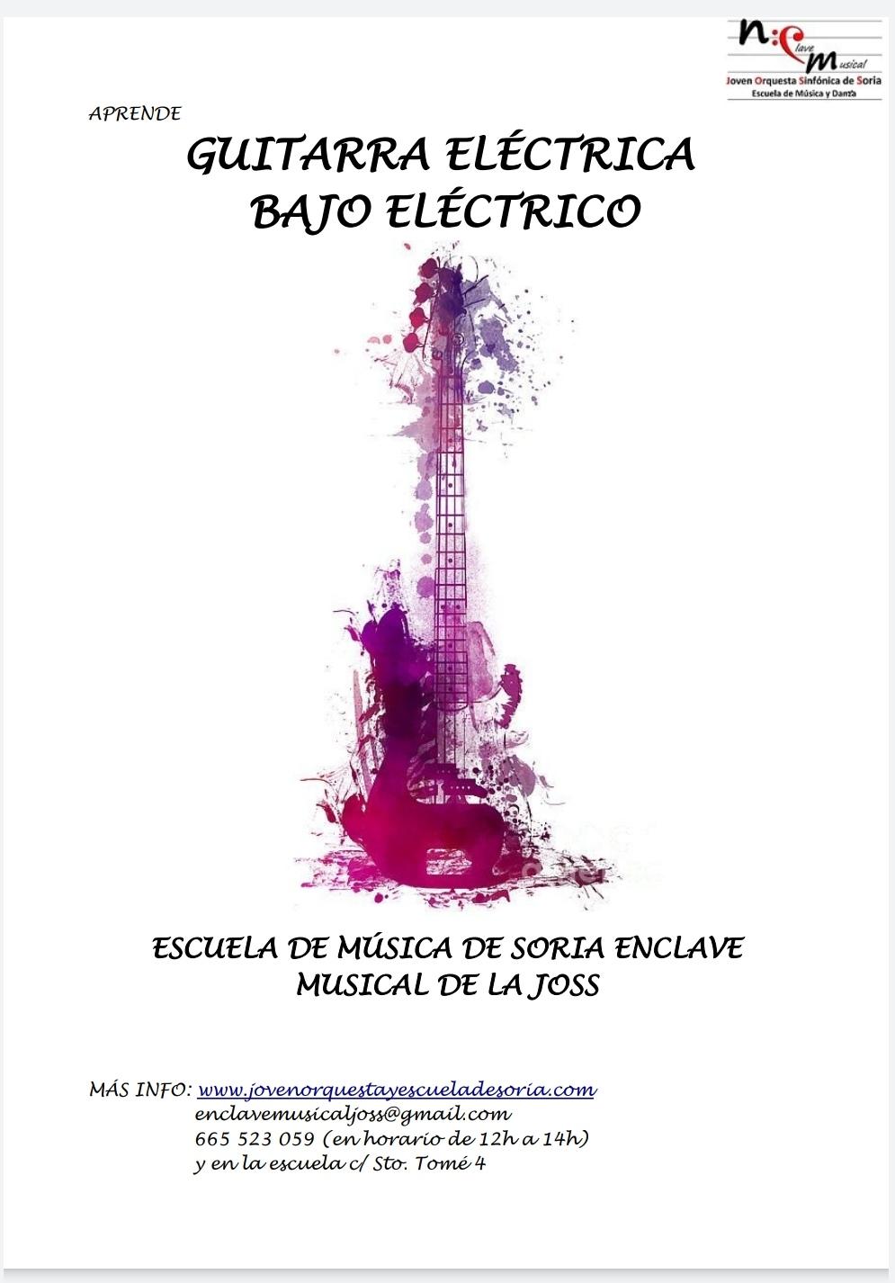 Clases de GUITARRA ELÉCTRICA y BAJO