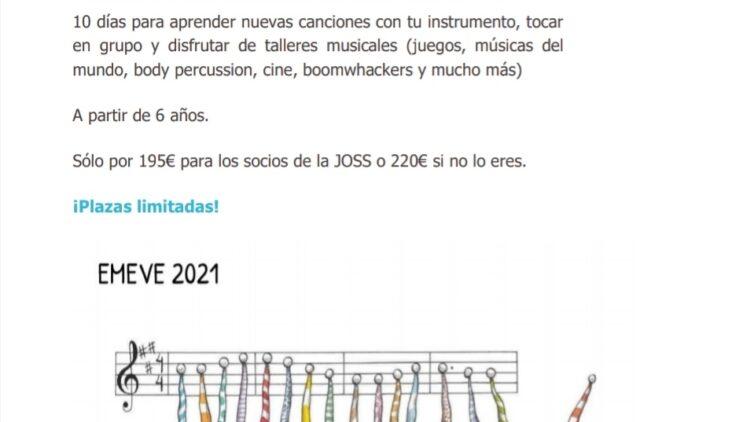 EMEVE 2021 Enclave Musical Encuentro de Verano